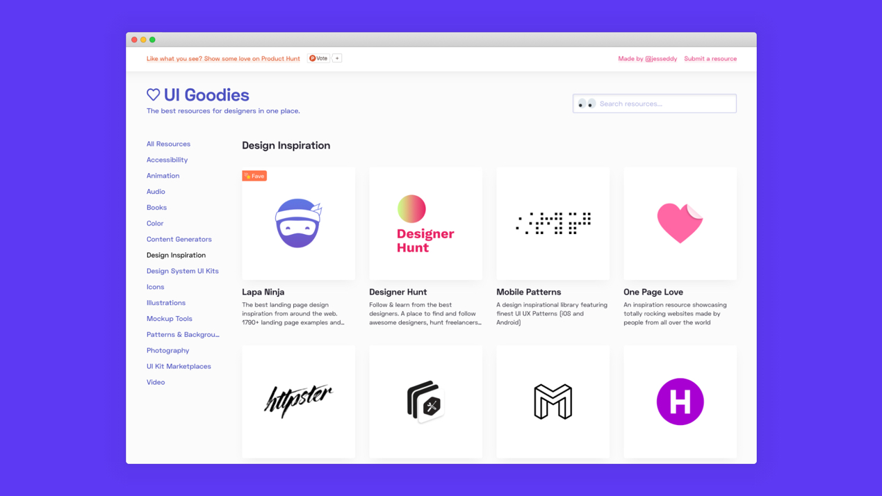 A Directory of design and front-end resources